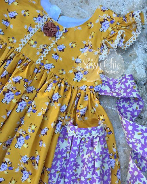 Fall Flowers in Mustard {Dress}