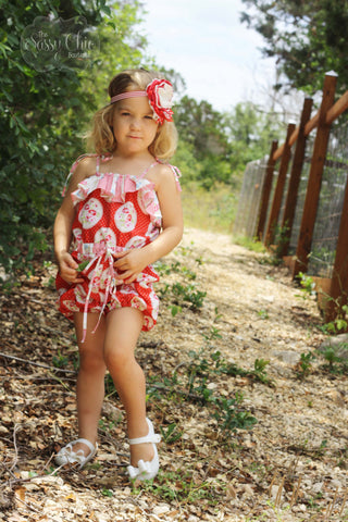 Retro Red Vintage Romper