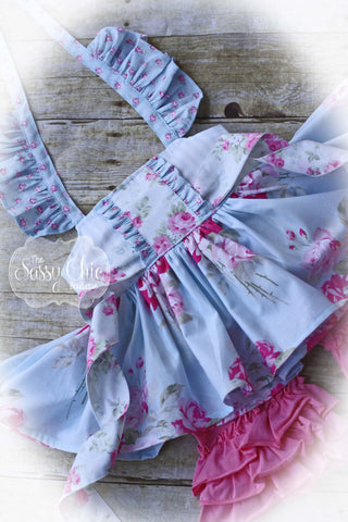 Blue Princess Tunic + Ruffles