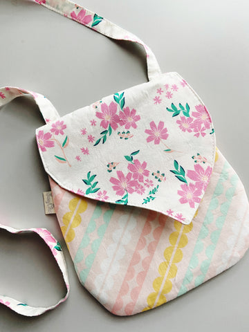 Simply Floral Kids Purse |Made-to-Match-the-Mask| 100% Cotton, Reusable & Washable | 3 Layers | Made in USA