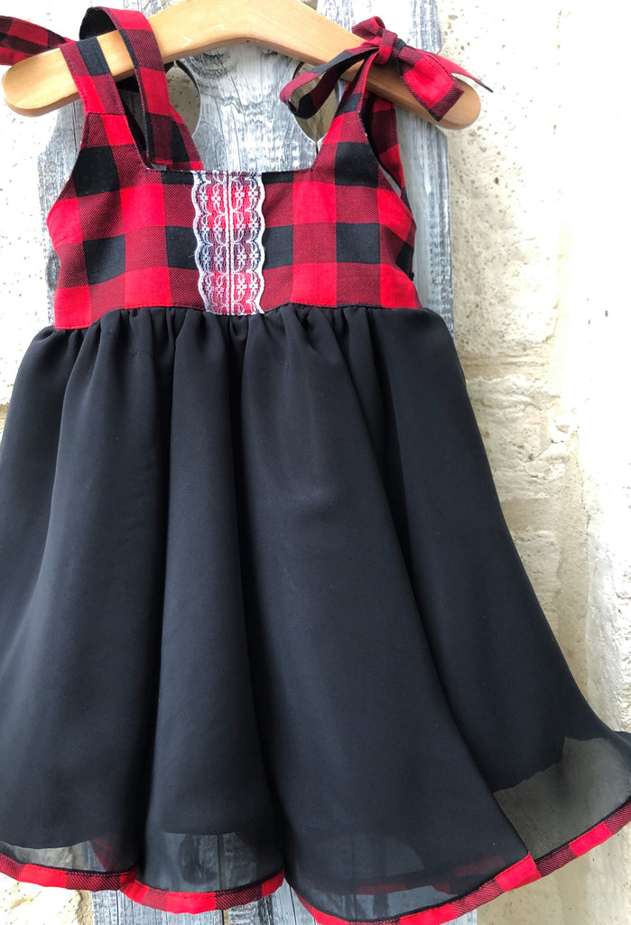 Pre-Order Buffalo Plaid Twirl Dress