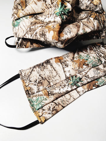 CHOOSE Your Size|Realtree Camo| Pocket Face Mask w/ Filter, 100% Cotton, Reusable & Washable | 3 Layers | Made in USA