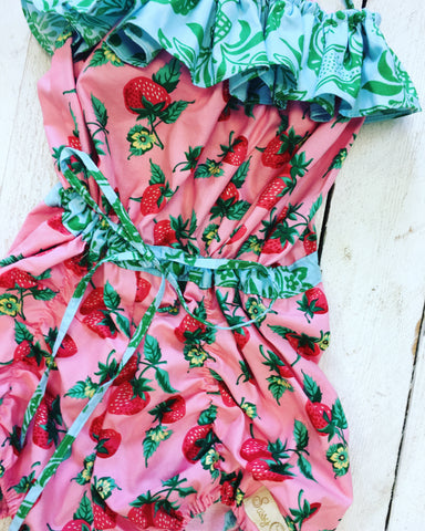 Strawberry Vintage Romper
