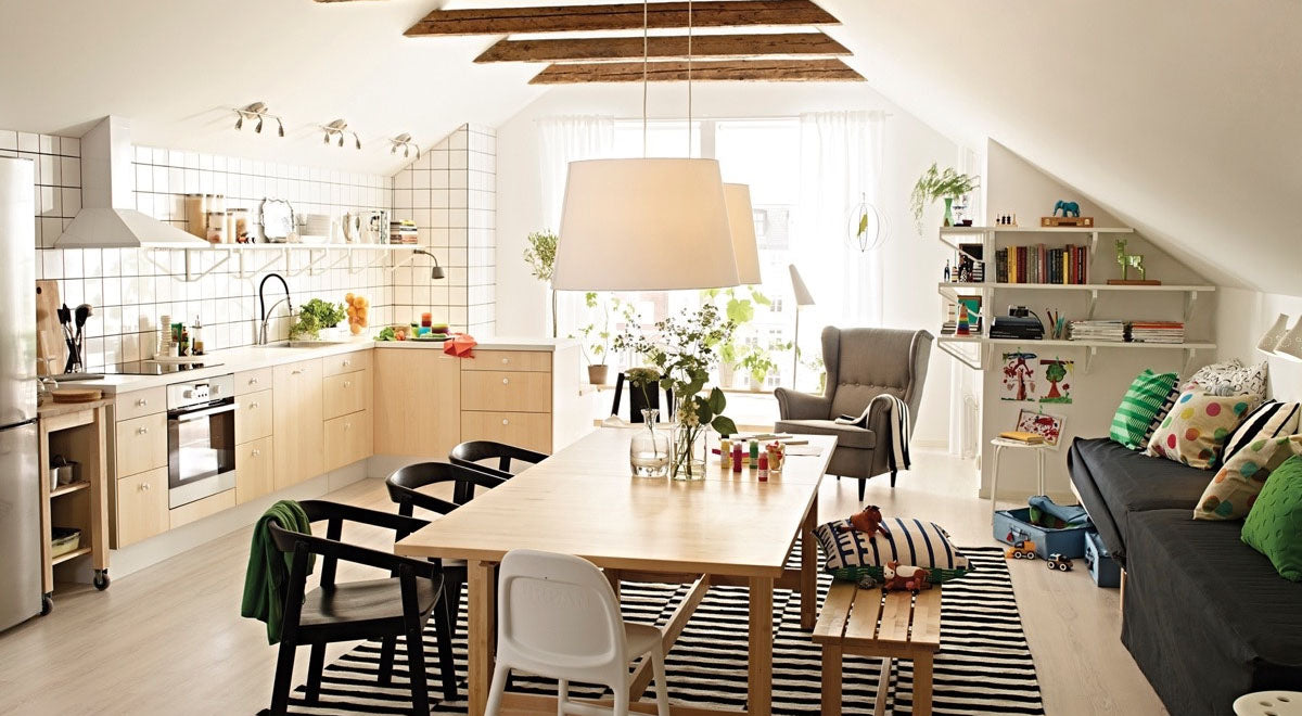 ikea dining room and kitchen
