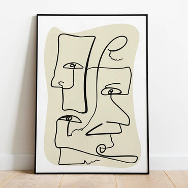 Abstract line art print