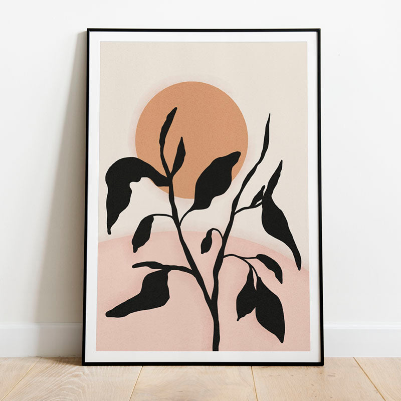 abstract leaves print