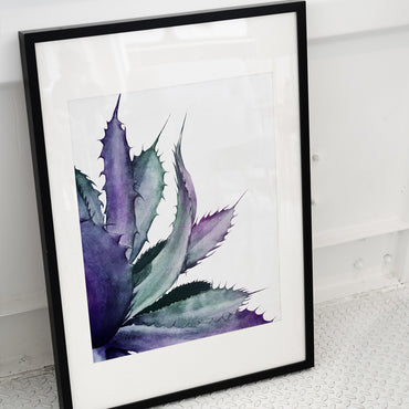 Watercolor Agave Print