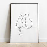Cat Line Art Print - LineArtPrint