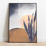 abstract desert poster