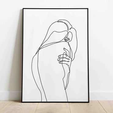 Female Back One Line Art Print - LineArtPrint