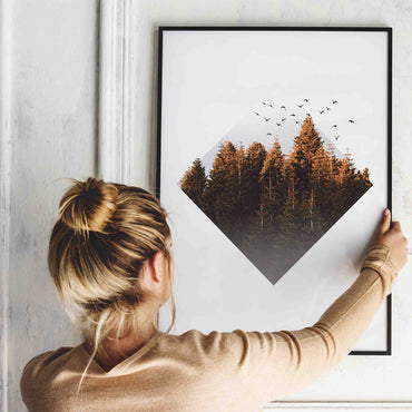 Triangle Geometric Forest Print