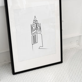 Big Ben London Line Art Print