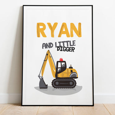 personalised digger poster