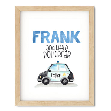 Personalised Police Car Poster Print