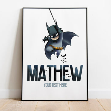 personalised batman print