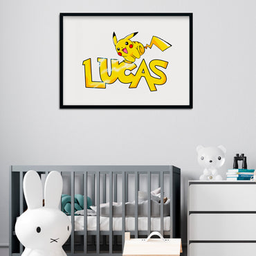 Personalised Pokemon Pikachu Print