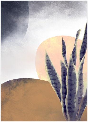 abstract desert print