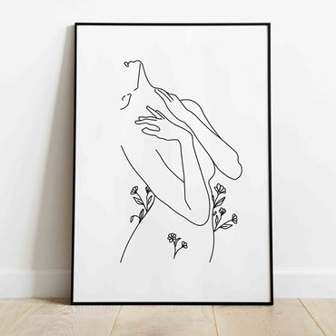 Minimalist Nature Woman Line Art Print - LineArtPrint