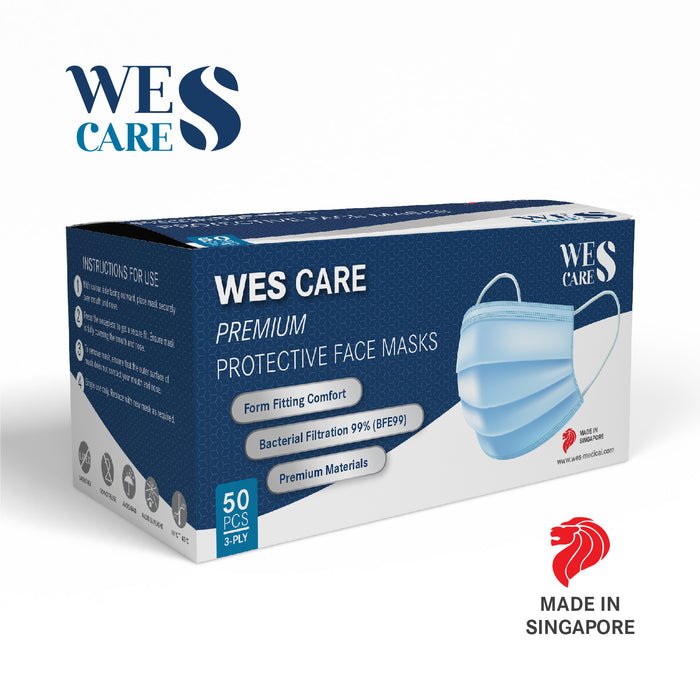 3Ply Premium Surgical Face Masks - Box of 50