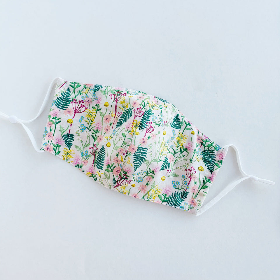 Japan Cotton Child Mask - Wildflowers | Made in Singapore