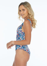 Tropical Cheetah Reversible One Piece