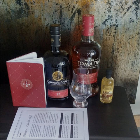 A Tomatin cast strength and Glencarin Glass