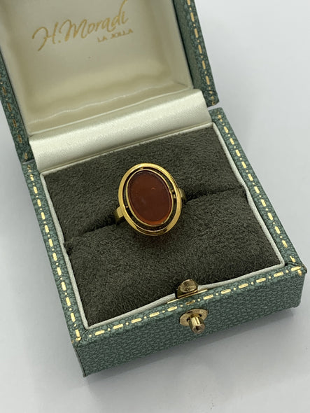 Victorian Carnelian Ring in 14k Gold