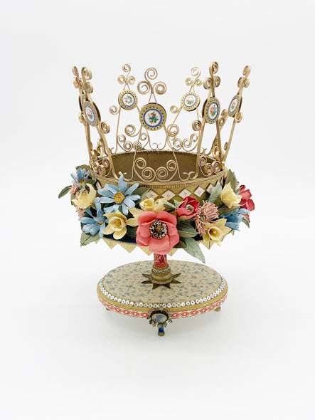 The Celebration of Spring Crown by Seattle paper artist sculptor Patty Grazini