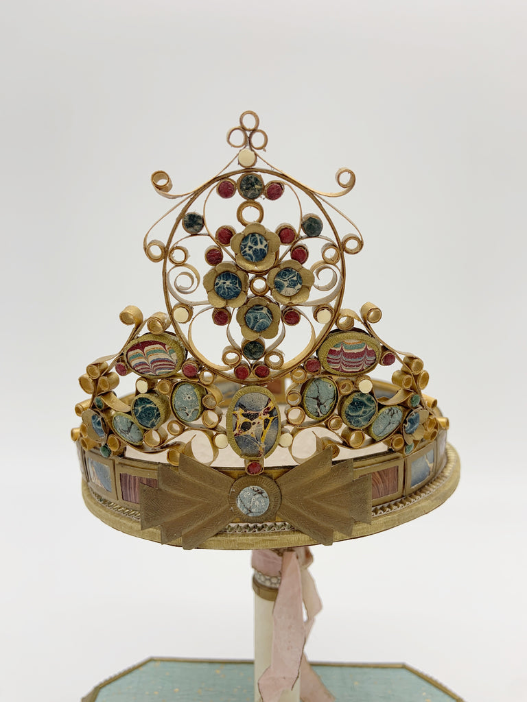 The Royal Engagement Jeweled Tiara by Seattle paper artist sculptor Patty Grazini