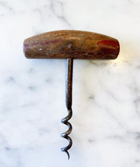 Vintage Corkscrew with Wood Handle