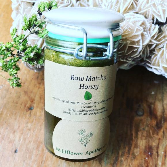 Raw Matcha Honey