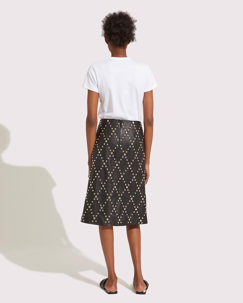 Trapezoid Leather skirt
