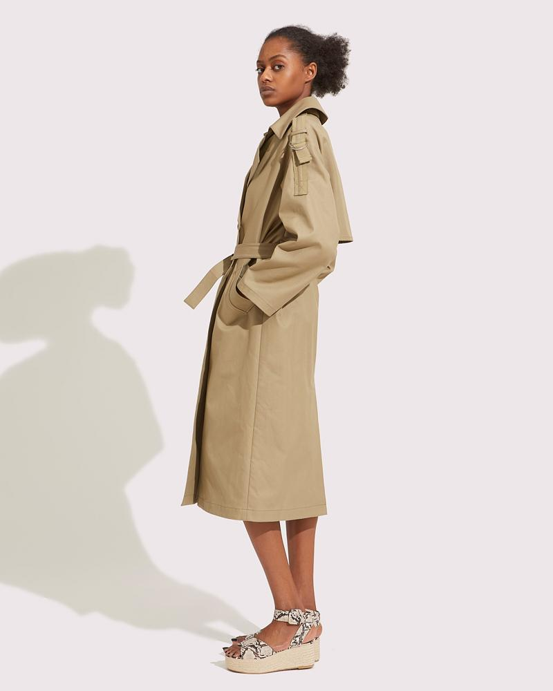 Oversized trench belted