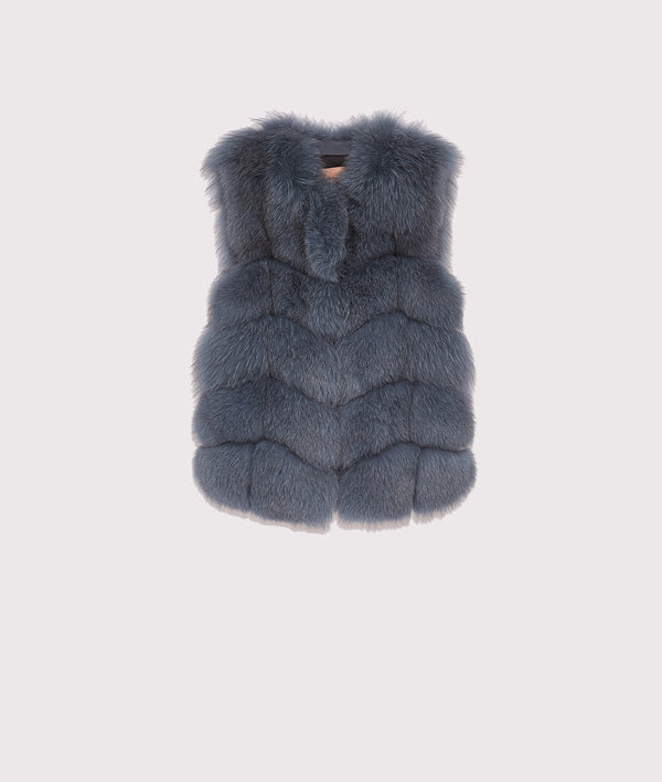 Sleeveless fox gilet
