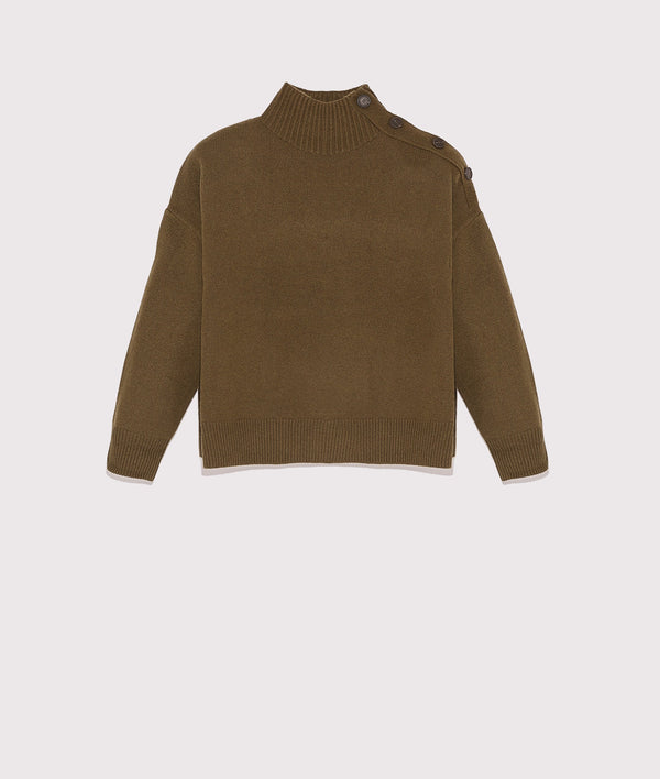 Wool and cashmere knit sweater