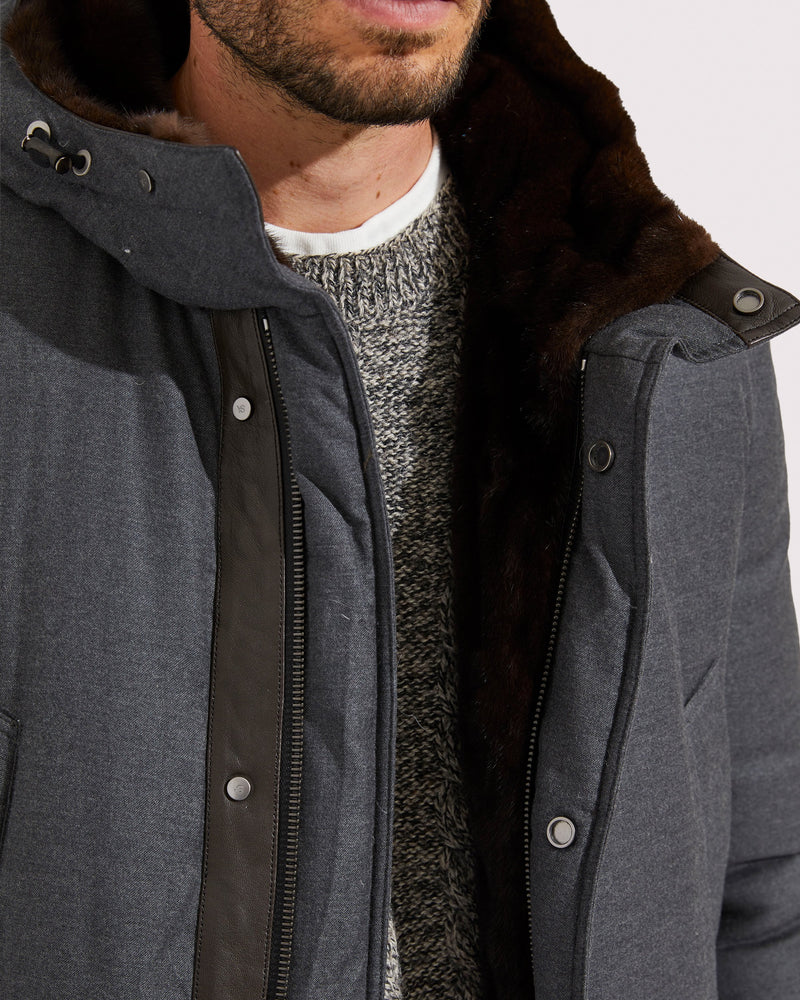Mink-lined coat