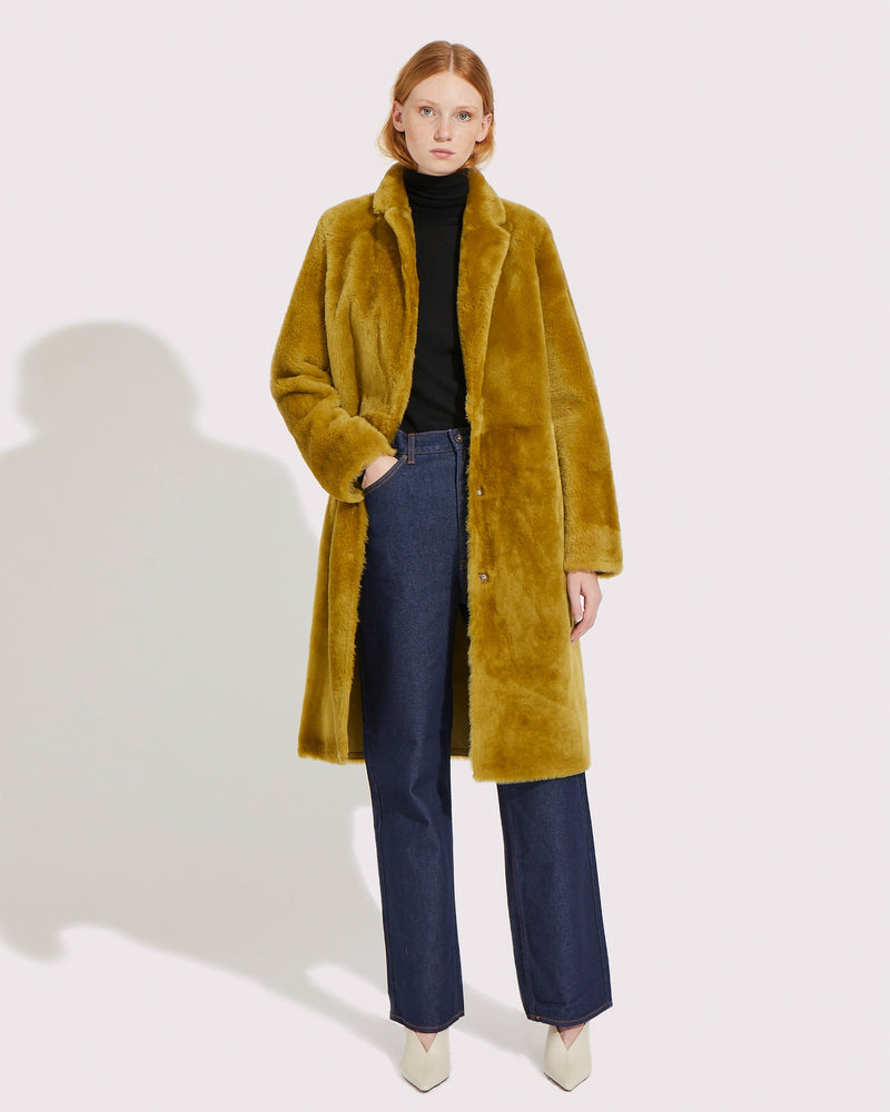 Long merino lambswool coat