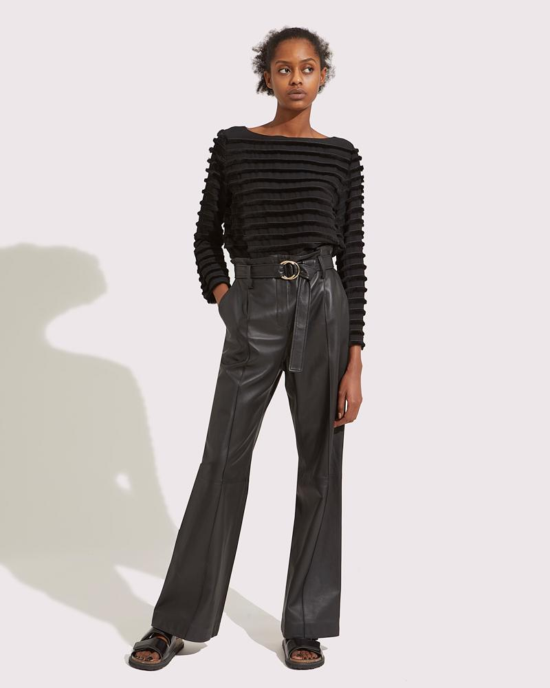 High waisted darted trousers