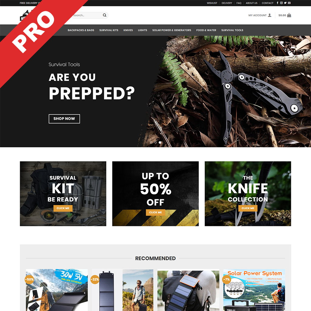 Survival/Prepper Dropshipping Business