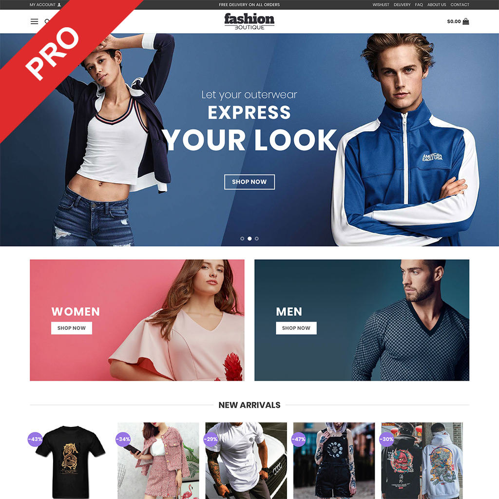 Men's Clothes Store - Dropshipping Website - Ready To Go Business