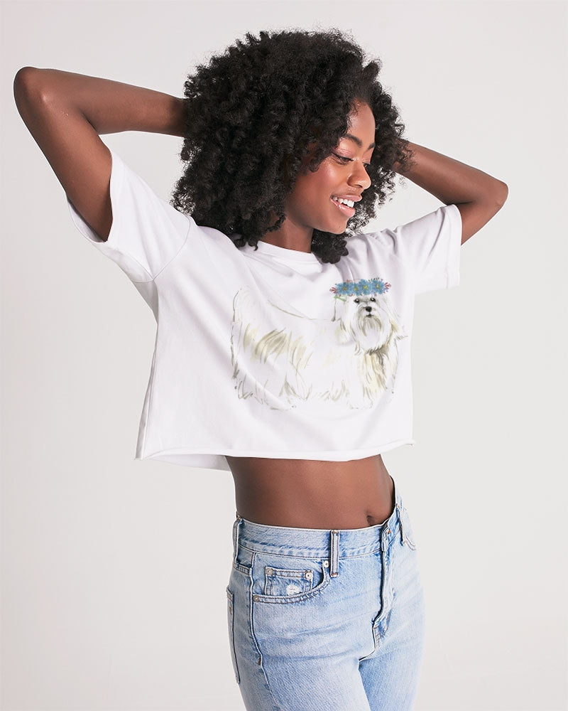 Maltese Women's Lounge Cropped Tee