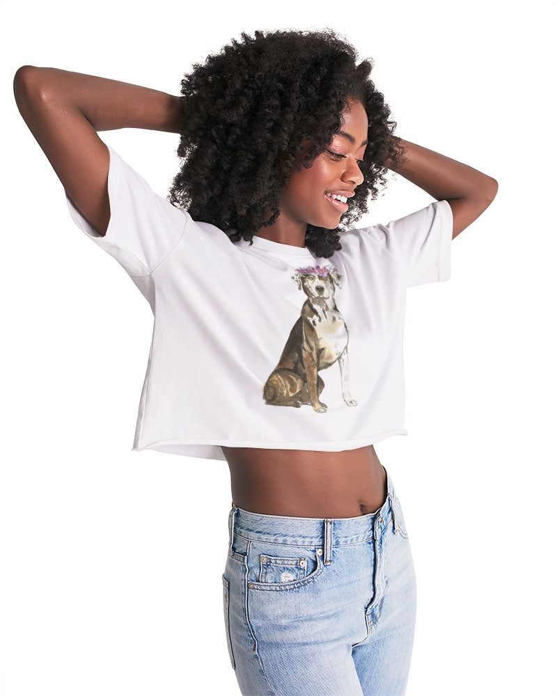 Catahoula Leopard Dog Women's Lounge Cropped Tee