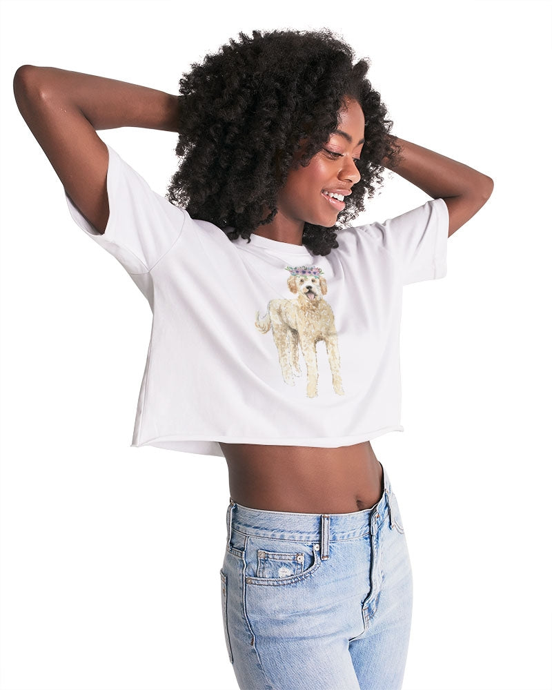 Golden Doodle Women's Lounge Cropped Tee