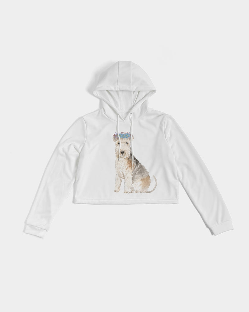Lakeland Terrier Women's Cropped Hoodie