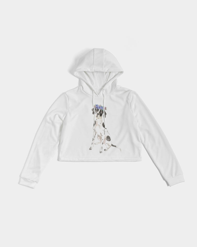 English Pointer Women's Cropped Hoodie