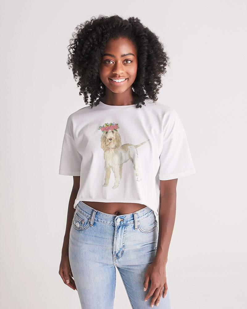 Spinone Italiano Women's Lounge Cropped Tee