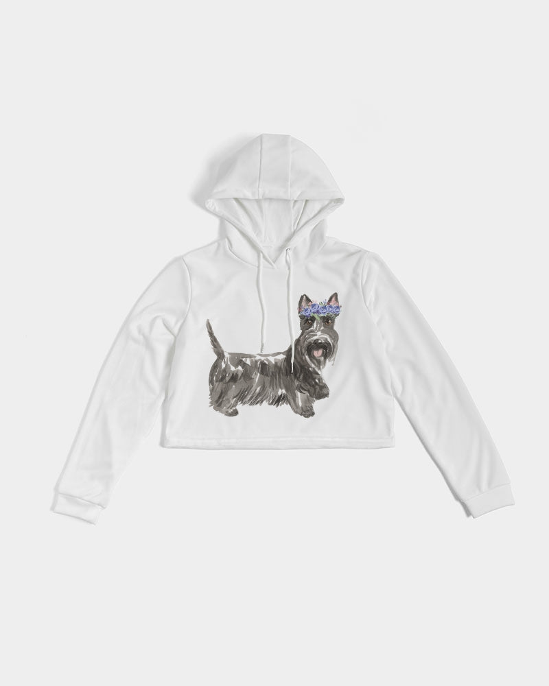 Scottish Terrier Women's Cropped Hoodie