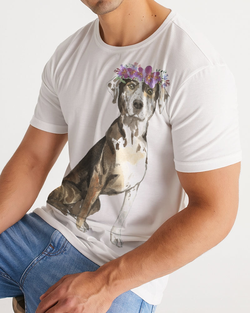 Catahoula Leopard Dog with Flower Crown Tee