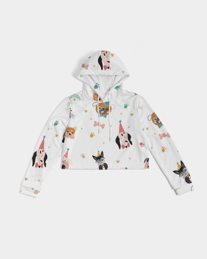 Pawty Pups Women's Cropped Hoodie