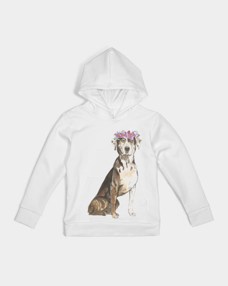 Catahoula Leopard Dog with Flower Crown Hoodie